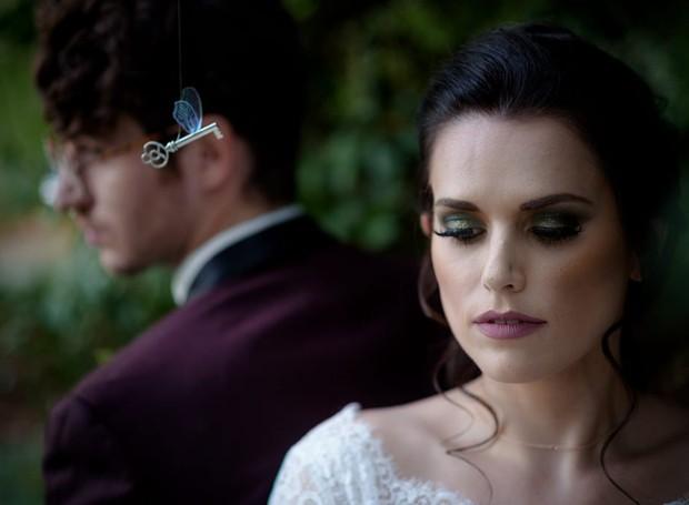 Sessão de fotos de casamento inspirada em Harry Potter (Foto: F27 Photography/Reprodução)