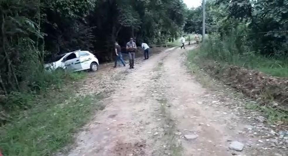Local onde prefeito foi assassinado em Ribeirão Bonito — Foto: Arquivo Pessoal