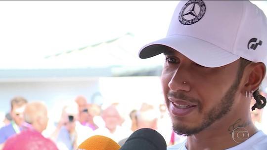 Ferraris decepcionam e Lewis Hamilton faz a pole do GP da Alemanha