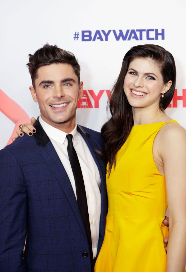Zac Efron e Alexandra Daddario (Foto: Getty Images)