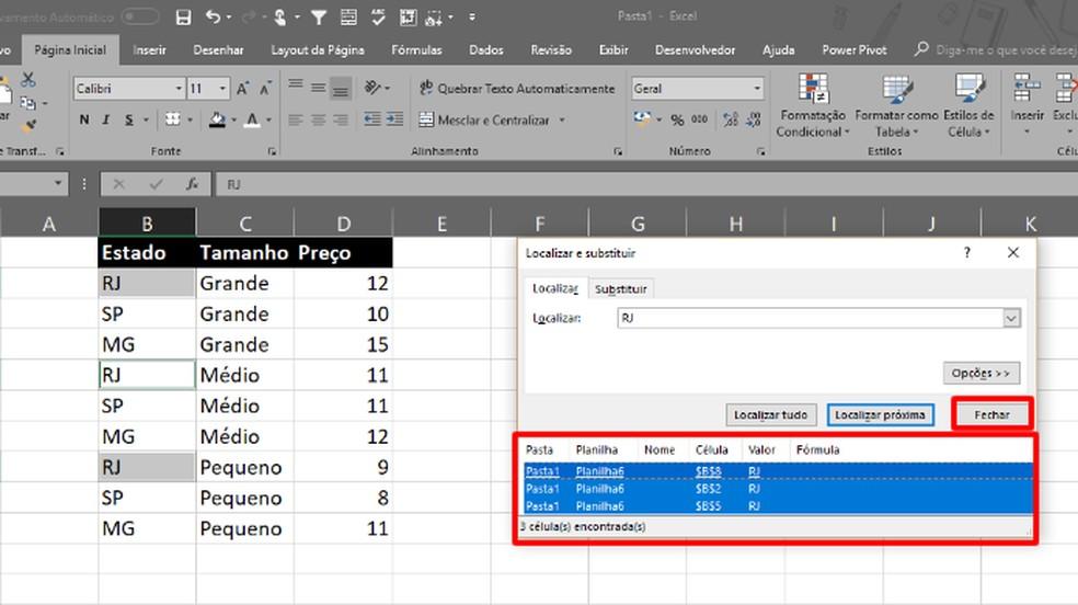 """Clique em um item dos resultados e """"Ctrl"""" + """"A"""" para selecionar todos (Foto: Reprodução/Daniel Ribeiro)"""