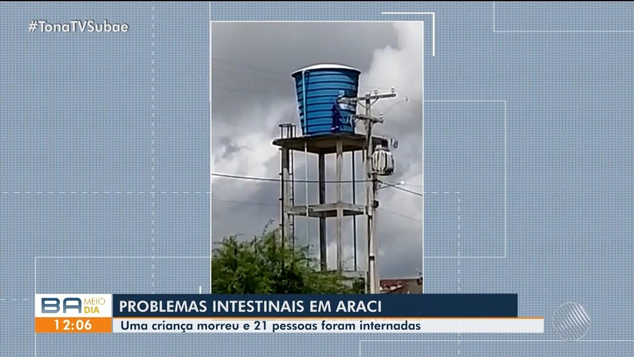 Avó de criança internada com suspeita de intoxicação por água contaminada comenta caso