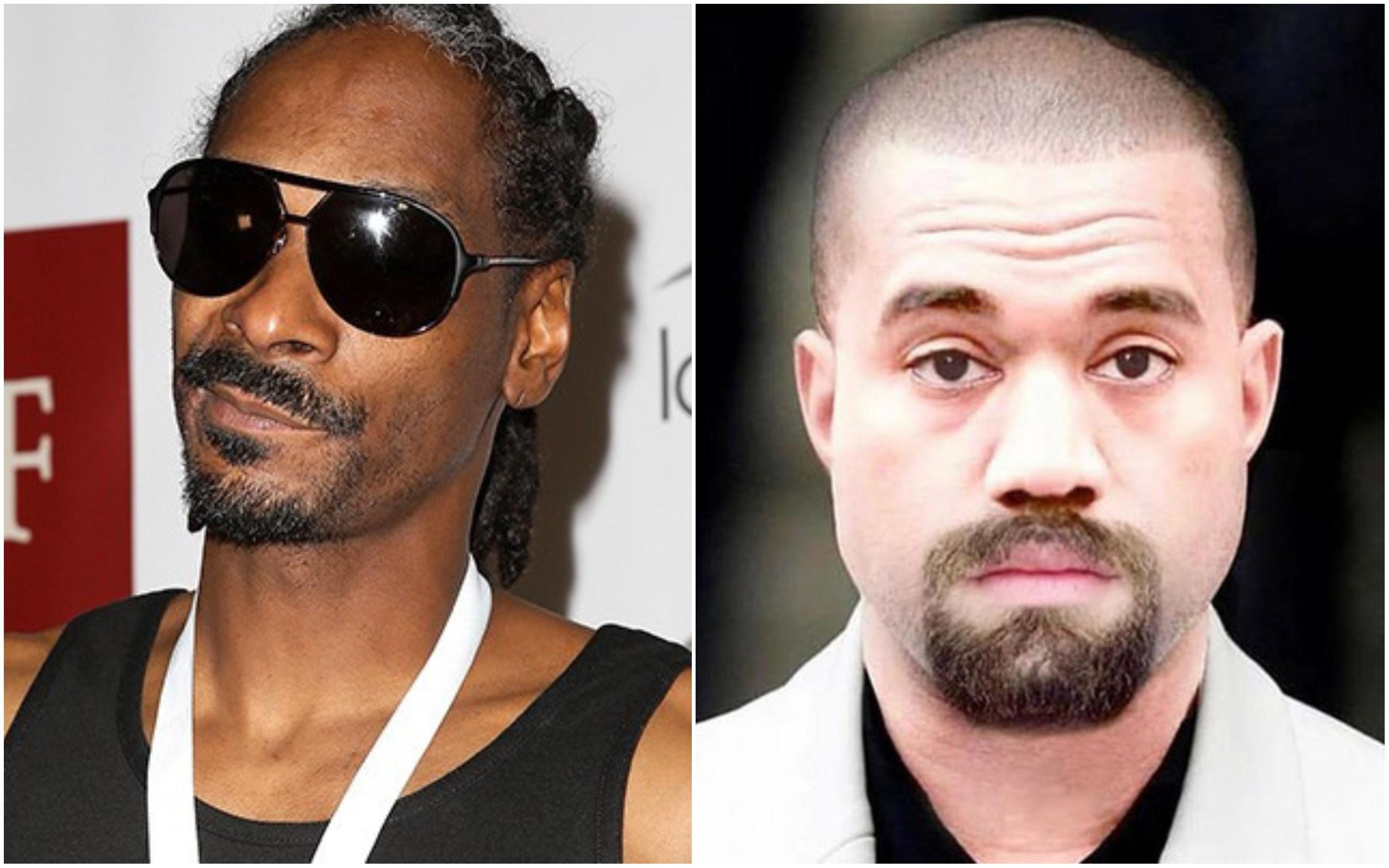 Snoop Dogg e Kanye West (Foto: Getty Images / Instagram)
