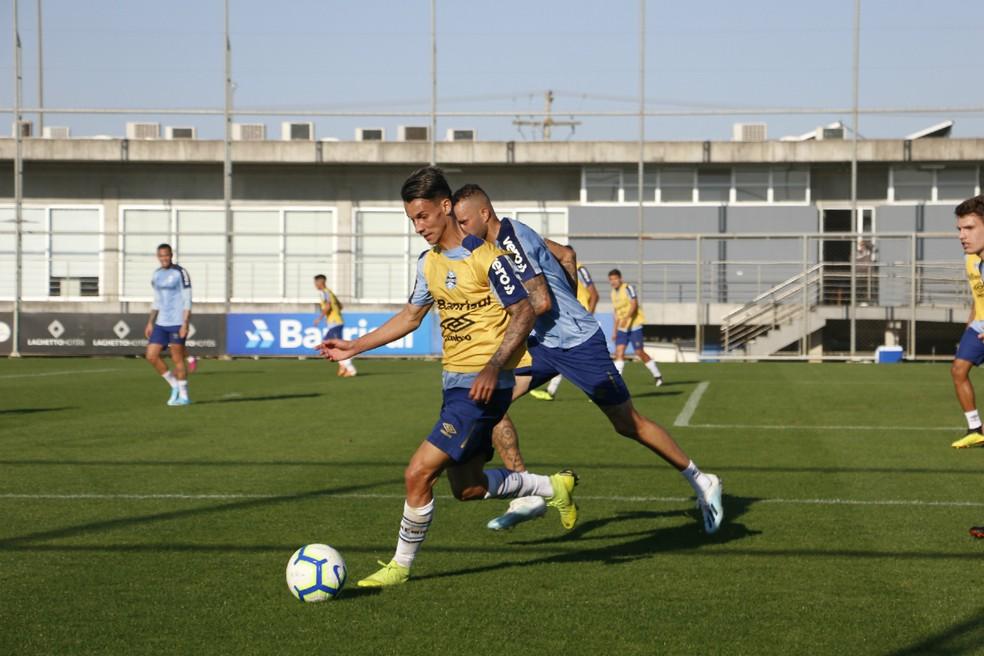 Ferreira foi autor do gol do time de transição — Foto: Eduardo Moura
