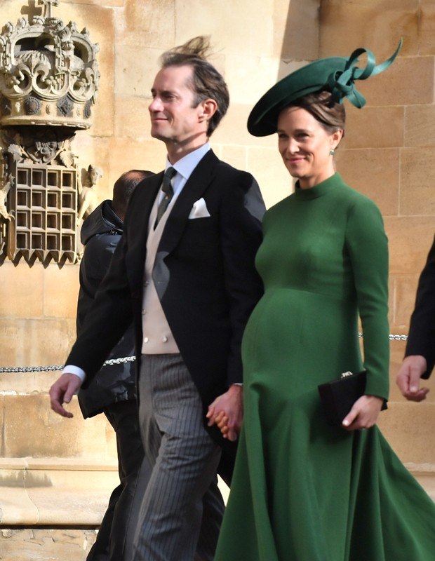 WINDSOR, ENGLAND - OCTOBER 12:  Pippa Middleton attends the wedding of Princess Eugenie of York to Jack Brooksbank at St. George's Chapel on October 12, 2018 in Windsor, England. (Photo by  (Photo by Mark Large - WPA Pool/Getty Images) (Foto: Getty Images)