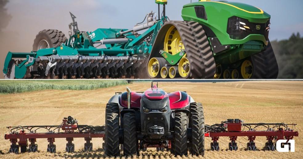 Máquinas agrícolas do futuro: fabricantes têm conceito pronto para a próxima geração — Foto: Case IH/John Deere/Divulgação