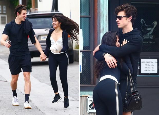 Resultado de imagem para Shawn Mendes e Camila Cabello aparecem em clima de romance