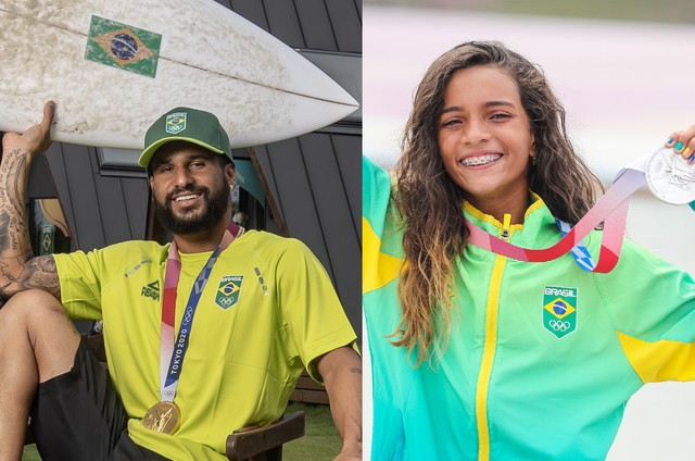 Ítalo Ferreira e Rayssa Leal serão tema de documentário do Globoplay (Foto: Divulgação/COB)