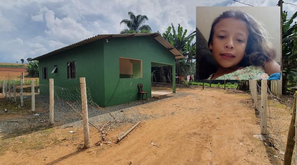 Menina foi encontrada morta dentro de fossa no fundo da casa dela, na zona rural de Piedade — Foto: Arquivo Pessoal