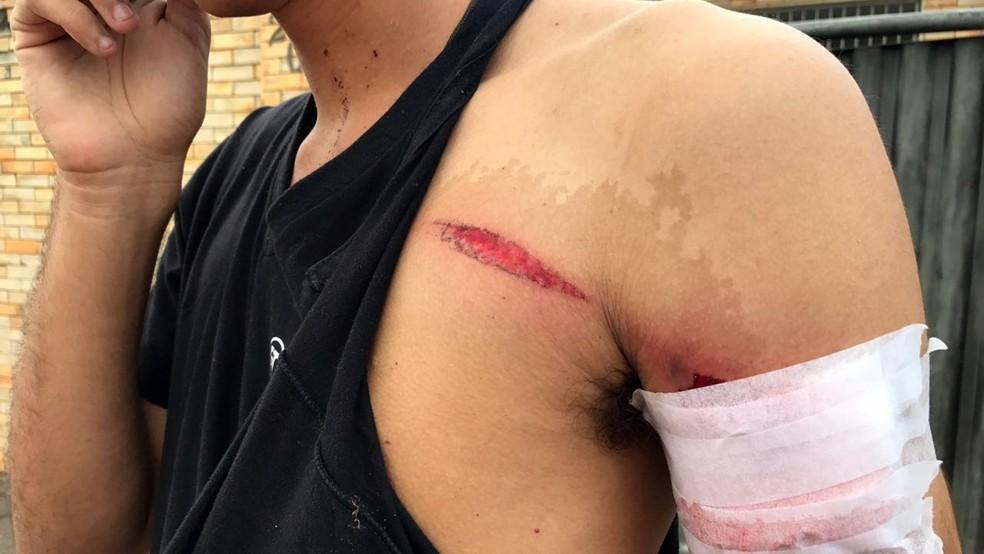 Rivaildo Filho foi baleado durante assalto em frente a casa em que mora, no Alto do Mateus (Foto: Walter Paparazzo/G1)
