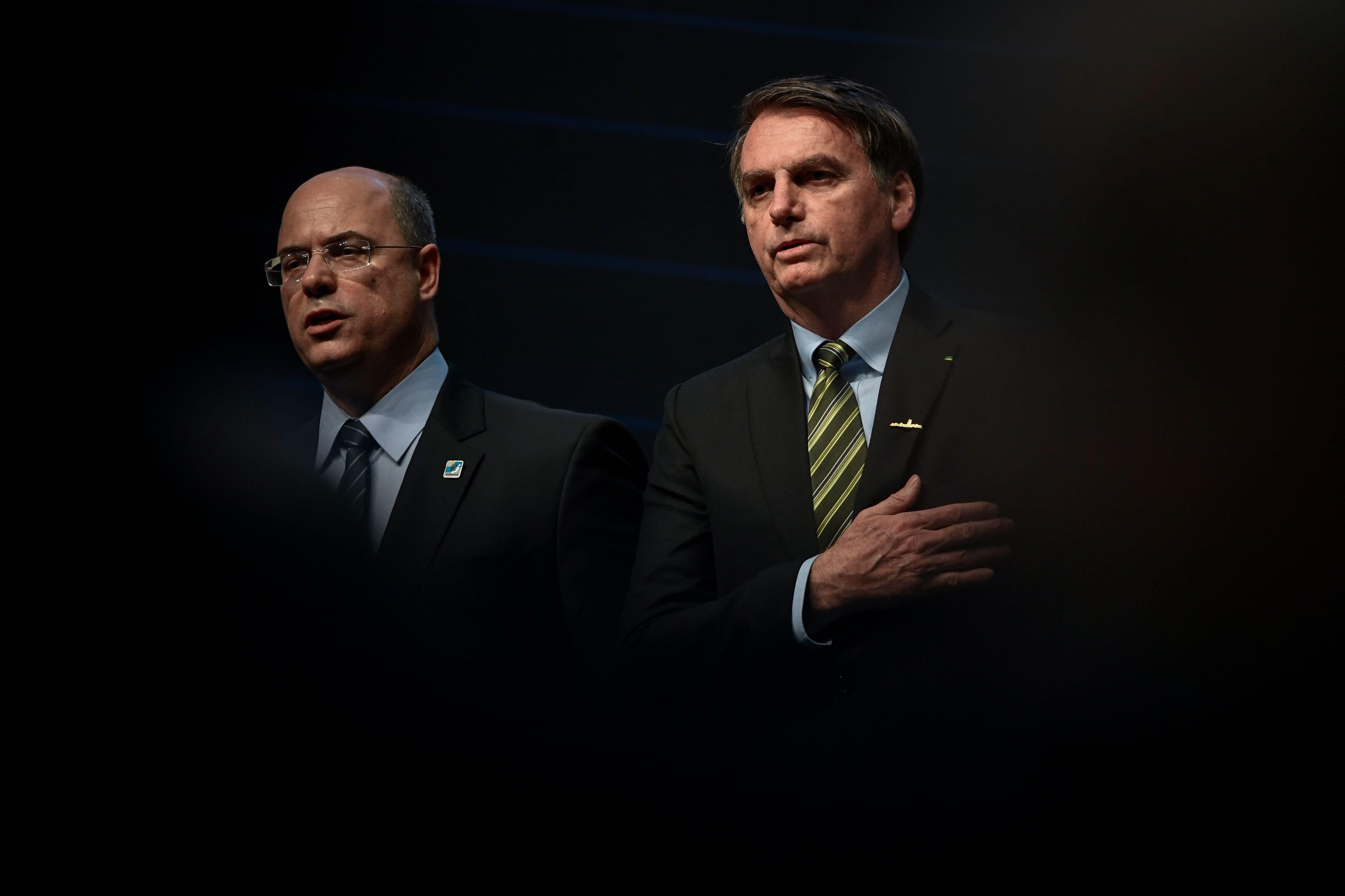 O clima entre Bolsonaro e Witzel não é dos melhores