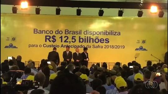 Presidente Michel Temer anuncia em Goiás R$ 12,5 bilhões para o custeio antecipado da safra