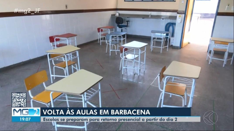 Volta às aulas: escolas de Barbacena adotam medidas sanitárias para retorno presencial dos estudantes