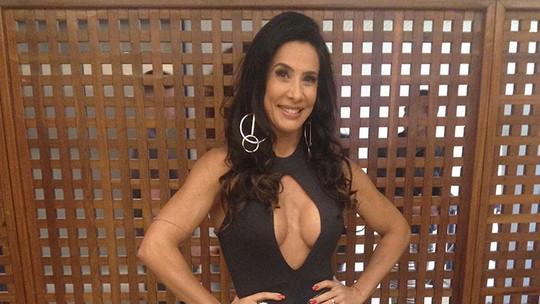 Scheila Carvalho comenta look ousado da final do 'Saltibum' e diz que evita 'sair assim na rua': 'Não gosto de ser assediada'