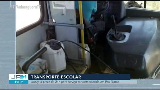Justiça manda prefeitura regularizar situação do transporte escolar em Pau D'Arco