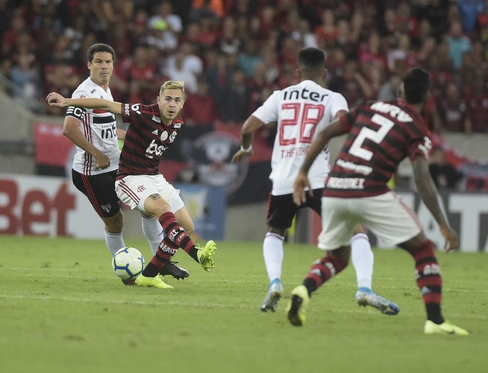 Piris da Motta segue no Flamengo — Foto: André Durão, GloboEsporte.com