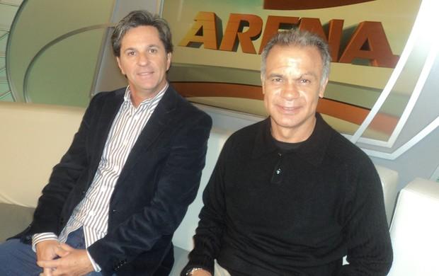 Caio Junior e Jorginho em participação no Arena SporTV (Foto: Alessandra Colturato/ SporTV.com)