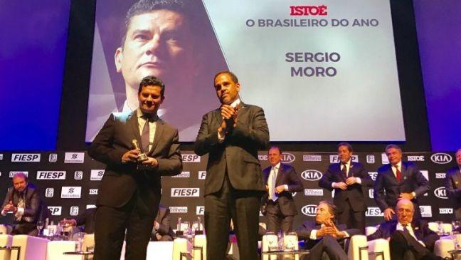 Sérgio Moro no evento Brasileiros do Ano (Foto: Divulgação)