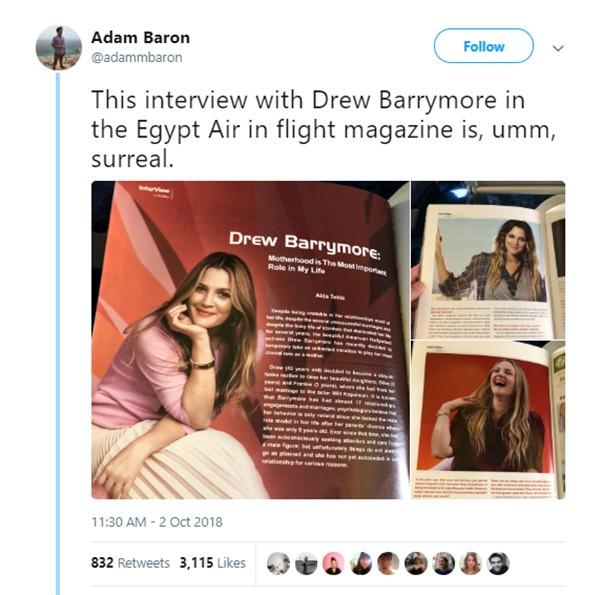 Drew Barrymore (Foto: Twitter)