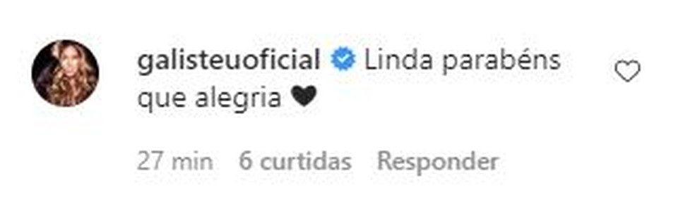 Adriane Galisteu parabeniza Celina Locks por gravidez — Foto: Divulgação/Instagram