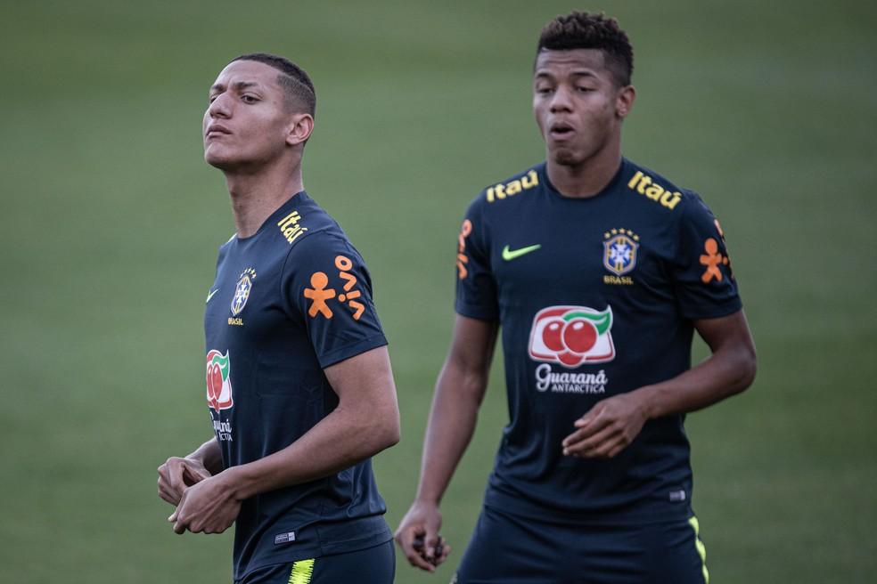 Richarlison e David Neres poderiam estar na seleção sub-23 — Foto: Pedro Martins/Mowa Press