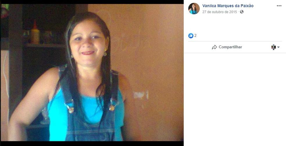 O corpo de Vanilca Marques foi encontrado dentro da casa em que ela morava — Foto: Reprodução/Redes Sociais