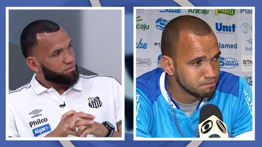 """Éverson chora ao lembrar carreira até o Santos: """"Fui perdendo medo de me aventurar, realizar sonhos"""""""