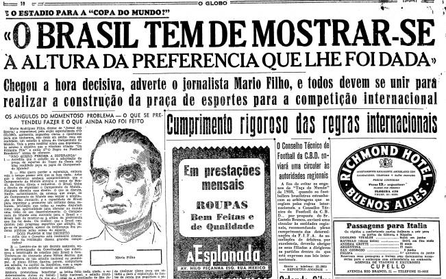 Página do GLOBO de 13 de maio de 1947
