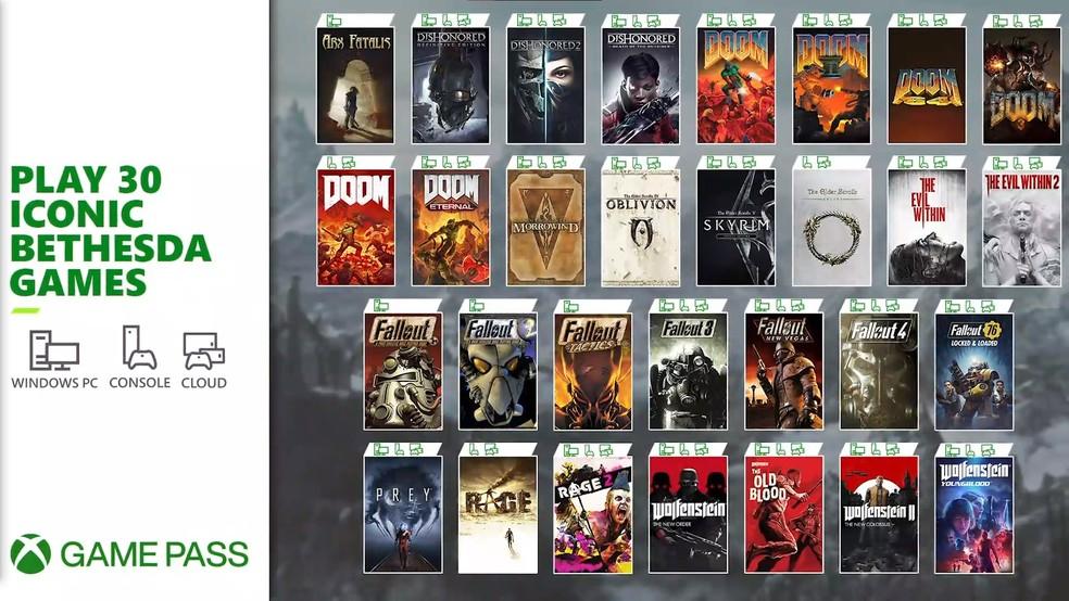 Vários jogos da Bethesda estão a caminho do catálogo do Xbox Game Pass no PC e consoles — Foto: Divulgação/Bethesda