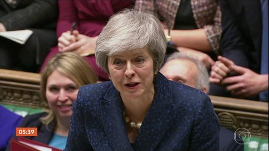 Theresa May descarta 'avanço imediato' na União Europeia para salvar o acordo do Brexit