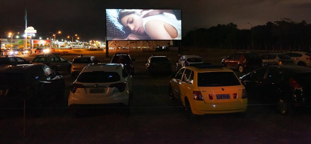 Cinema drive-in em Praia Grande (SP) — Foto: Divulgação/Ivan Ferreira