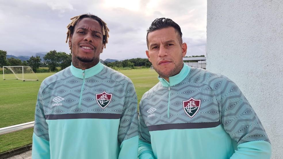 Abel Hernández e Bobadilla têm contrato só até dezembro e futuro indefinido — Foto: Divulgação