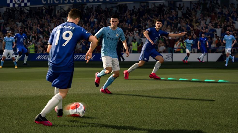 FIFA 21 apresentou um sistema de movimentação inteligente de jogadores sem a bola — Foto: Reprodução/PlayStation Store
