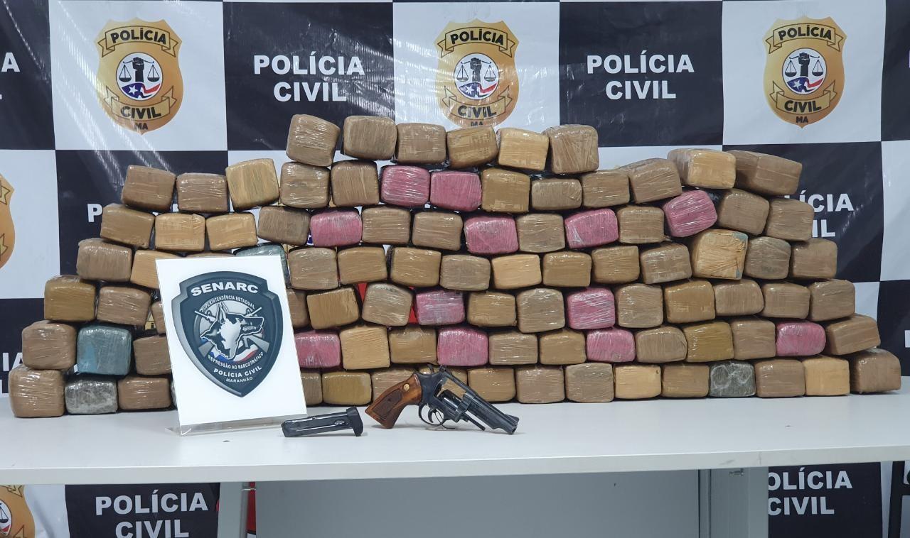 Polícia apreende 100 kg de maconha durante operação no Maranhão