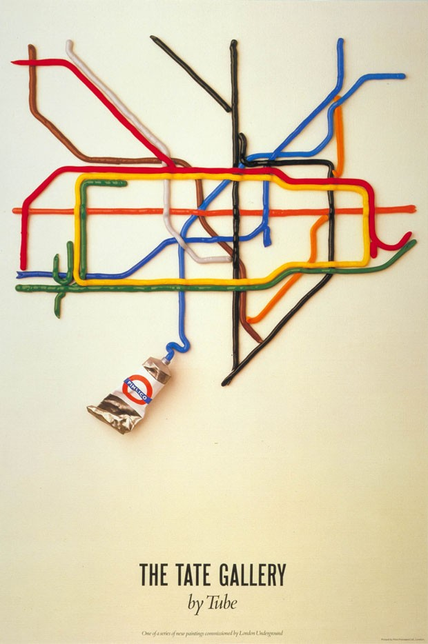 Pôster da Tate Gallery, 1987, de Tube e David-Booth (Fine White Line)