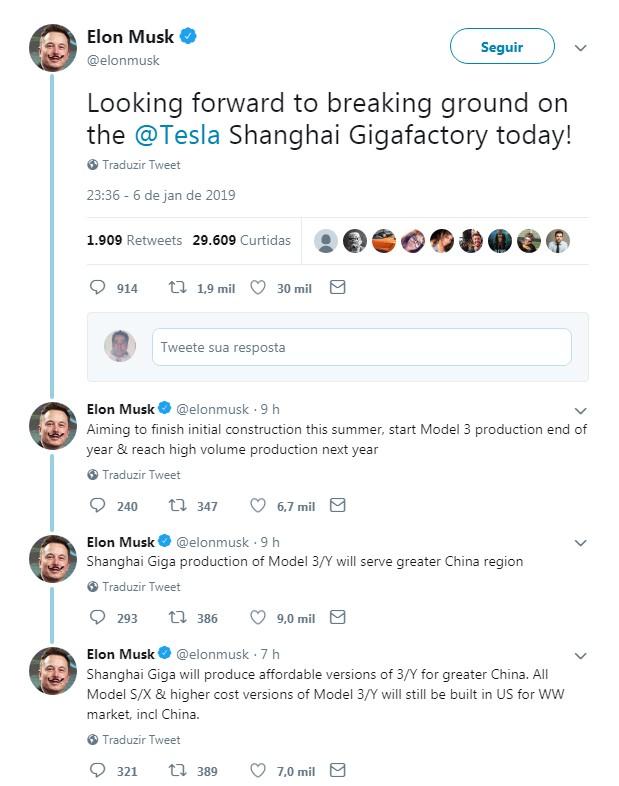 Tuíte Elon Musk (Foto: Reprodução/Twitter)