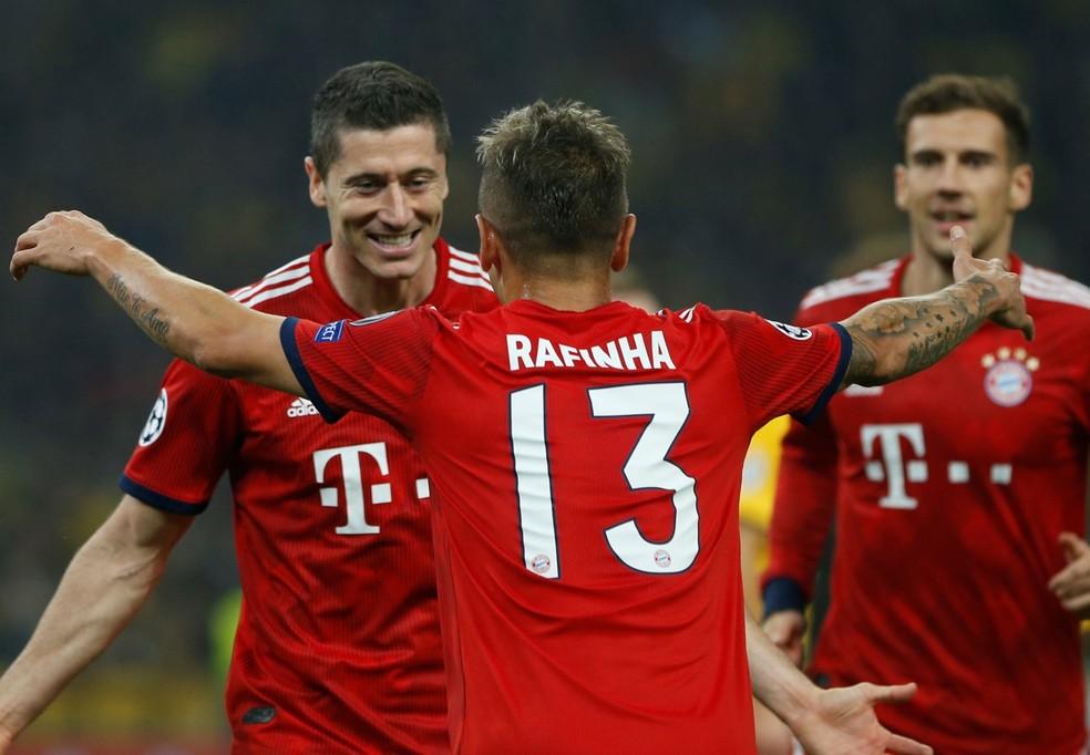 Rafinha vestiu a camisa 13 nos seus oito anos de Bayern — Foto: REUTERS / Alkis Konstantinidis