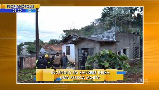 Idosa morre após incêndio destruir casa em Xanxerê