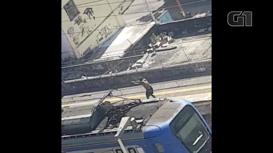 Troca de tiros em estação de trem da Supervia em Nilópolis neste domingo