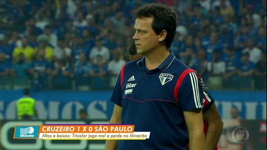 São Paulo perde para o Cruzeiro e tem primeira derrota com Diniz