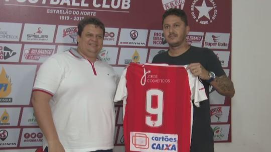 """""""Fui contratado para fazer gols e dar títulos pro Rio Branco"""", diz Laécio na chegada ao Estrelão"""