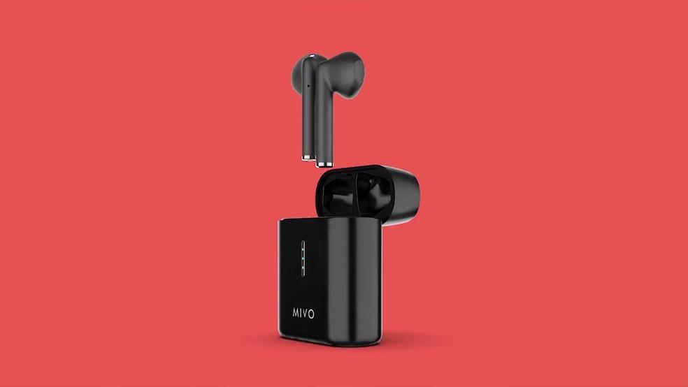 Fone sem fio alterna entre modo wireless e modo esportivo com neckband — Foto: Divulgação/MIVO