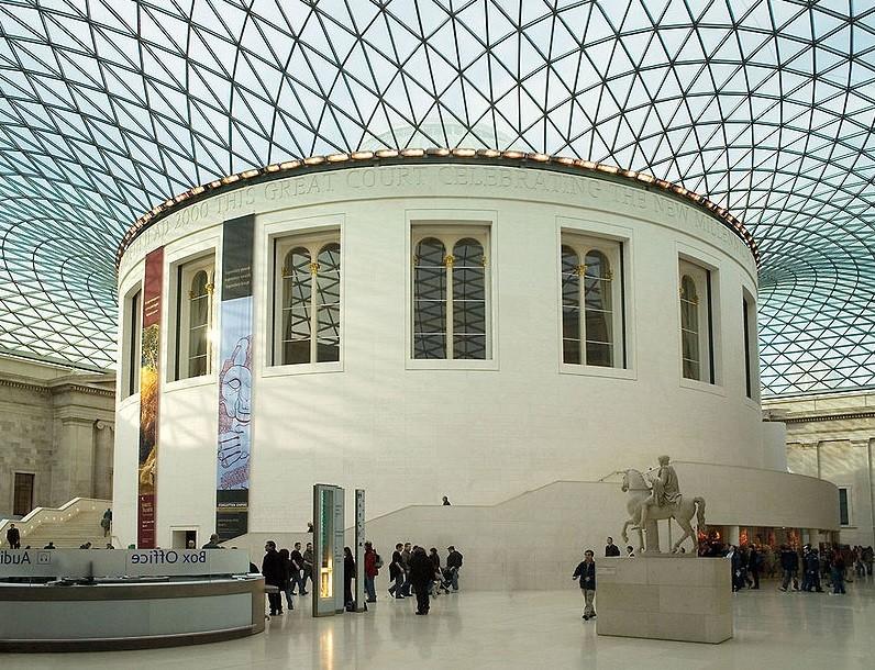 Sala de leitura no topo do Museu Britânico, em Londres (Foto: Wikimedia Commons)