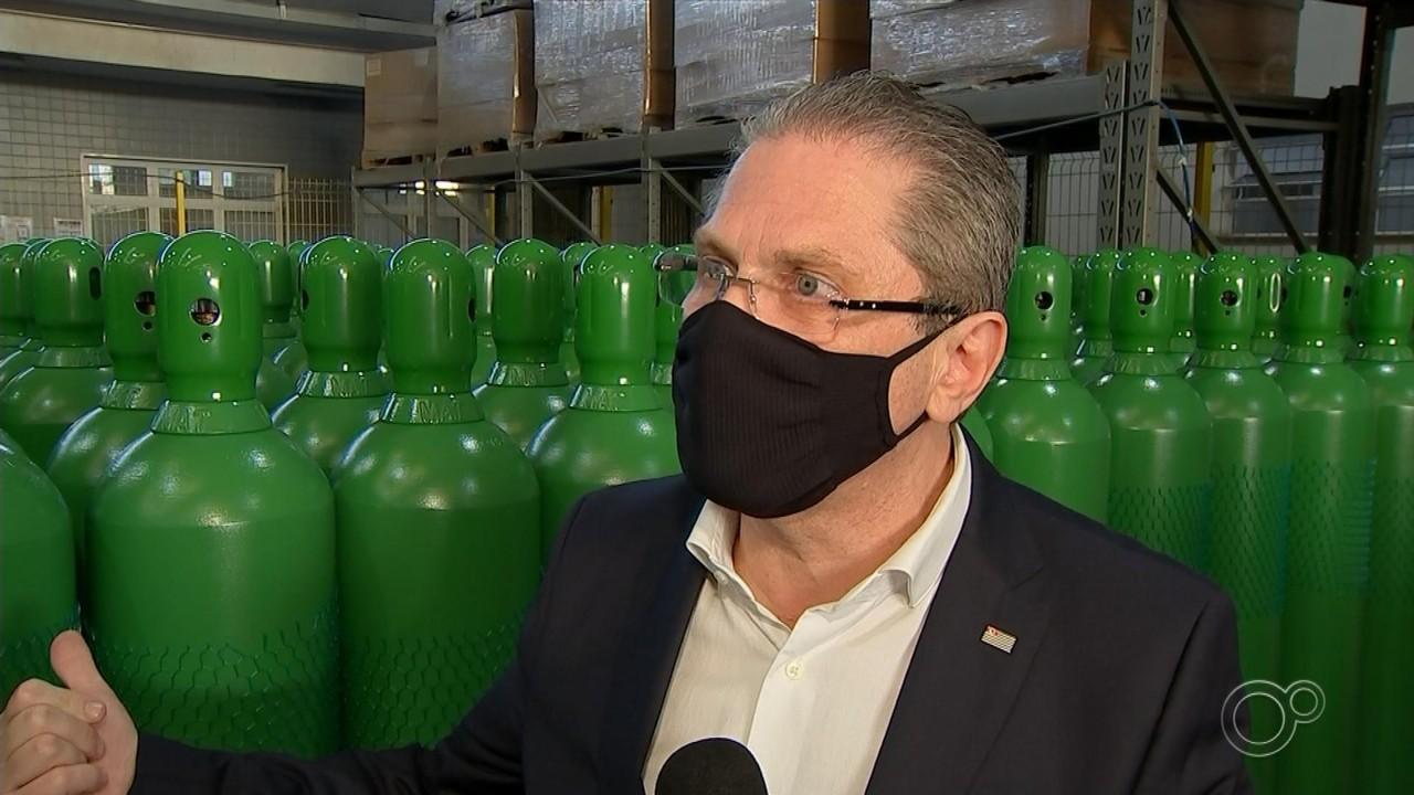 Fábrica de Jundiaí fornece cilindros de oxigênio para tratamento da Covid-19