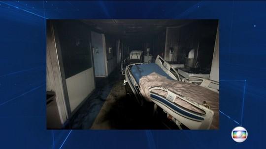 Imagens mostram gerador onde teria começado incêndio em hospital