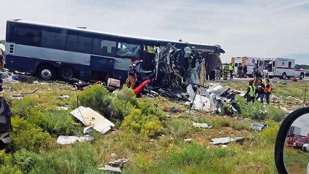 Acidente de ônibus em New Mexico (Foto: Reprodução GoFund Me)