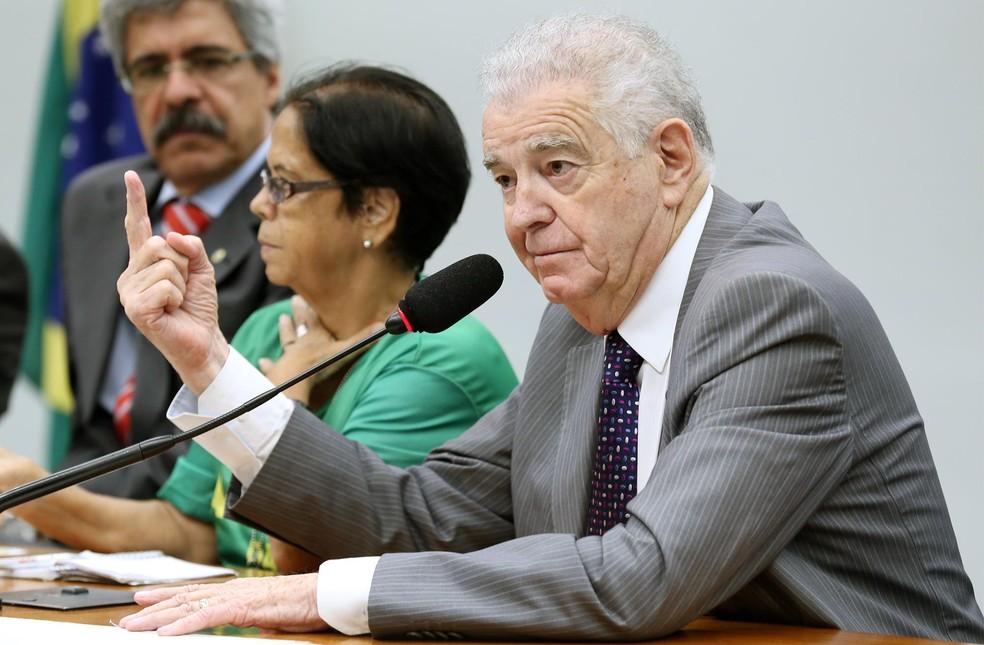 O deputado Nelson Marquezelli (PTB - SP) durante sessão na Câmara (Foto: Michel Jesus/Câmara dos Deputados)