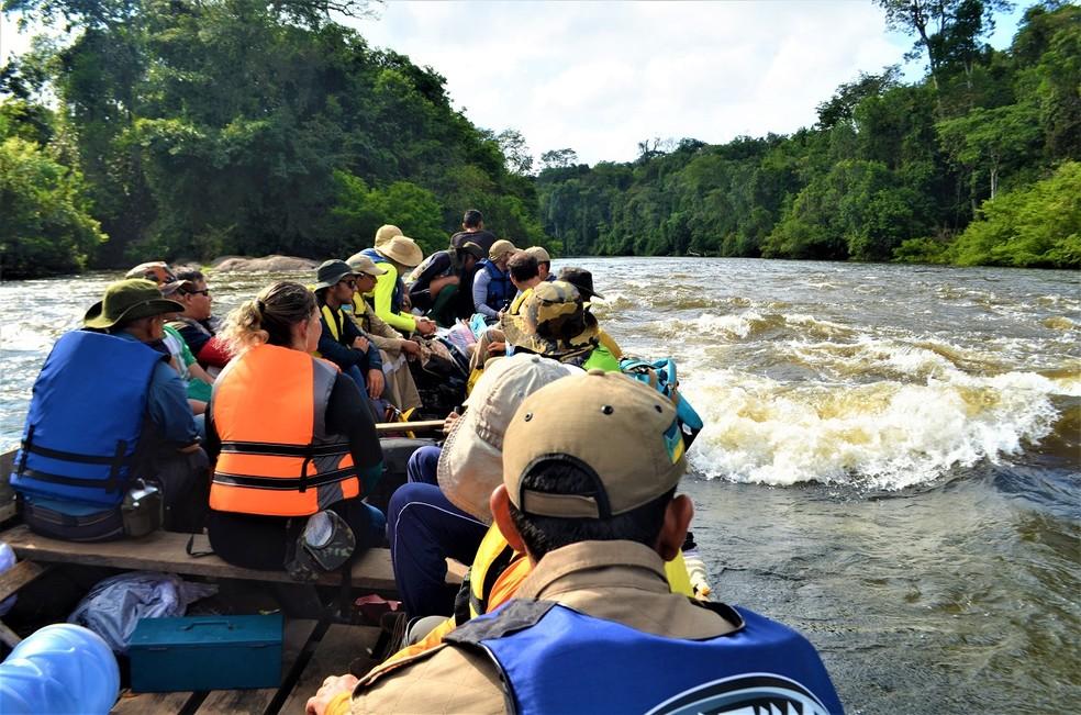 Pesquisadores brasileiros e estrangeiros participaram da expedição — Foto: Rafael Aleixo/Setec