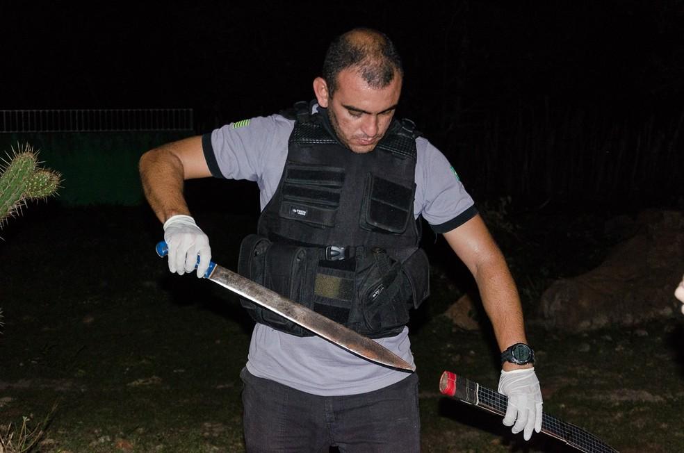 Homem foi morto com golpes de facão no Norte do Piauí — Foto: Wendell Veras