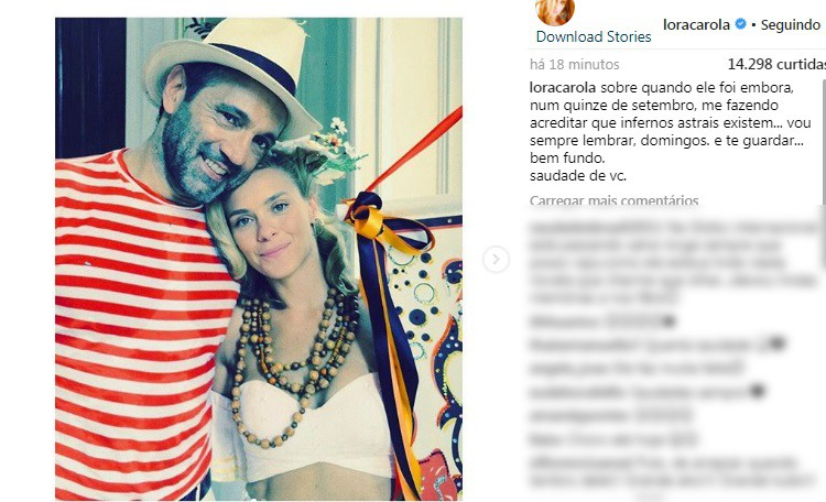 Post de Carolina Dieckmann (Foto: Reprodução/Instagram)